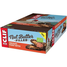 CLIF Bar Nut Butter Energiapatukkapakkaus 12 x 50 g, Chocolate Peanut Butter